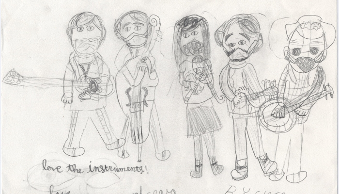 Drawing of Sandy Ridge Boys by a young fan